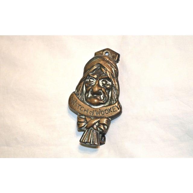 Witch 1927 Bronze Door Knocker For Sale - Image 4 of 9