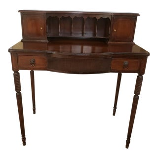 20th Century Bissman Walnut Colonial Line Writing Desk For Sale