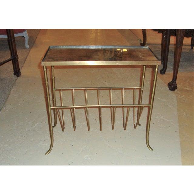 Jansen Style Bronze Bamboo Magazine Table - Image 3 of 9