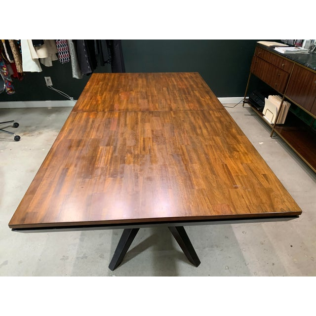 Mid-Century Modern Mid-Century Modern Walnut Dining Table For Sale - Image 3 of 8