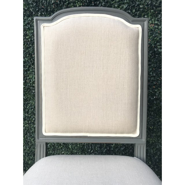 Contemporary Sarried Ltd Louis XVI Gray Squared Side Chairs - A Pair For Sale - Image 3 of 13