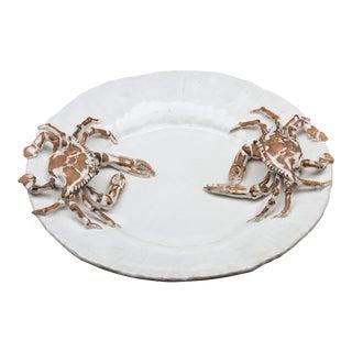Ceramic Crab Platter For Sale