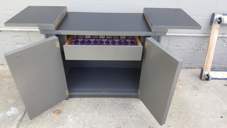 Brutalist Flip Top Bar Cabinet   Image 3 Of 9