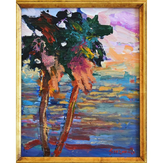 "Impressionist landscape seascape painting on canvas by California artist Juan ""Pepe"" Guzman-Maldonado (Chile b.1948)..."