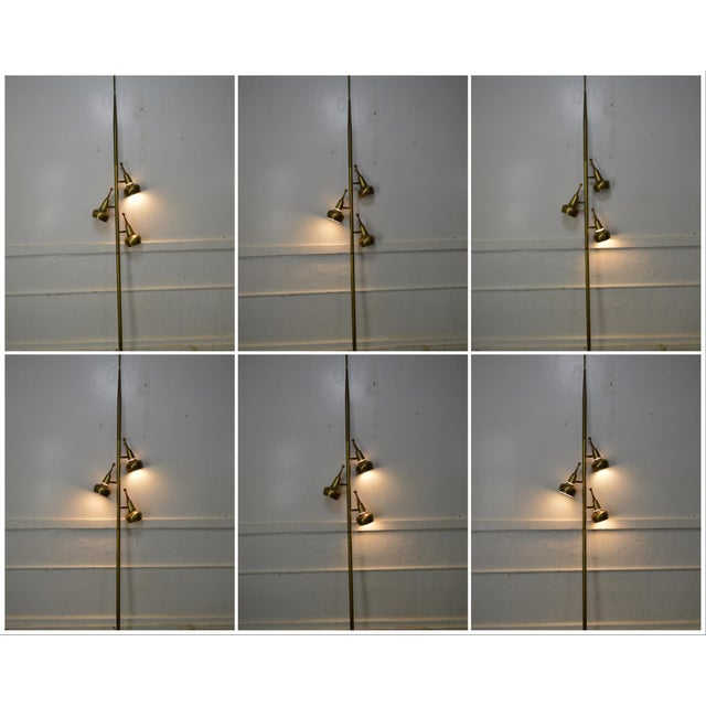 STORE ITEM #: 16305-fwmr Mid Century Modern 3 Light Pole Lamp AGE/COUNTRY OF ORIGIN – Approx 50 years, America...