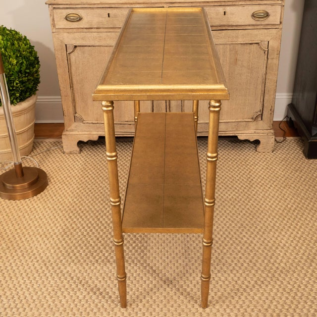 Wood Gold Console Table For Sale - Image 7 of 10