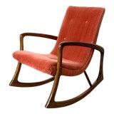 Image of 1960s Vintage Vladimir Kagan Style Rocking Chair For Sale
