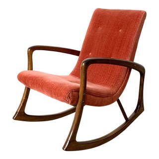 1960s Vintage Vladimir Kagan Style Rocking Chair For Sale