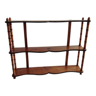 Antique English Faux Bamboo Wall Shelf For Sale