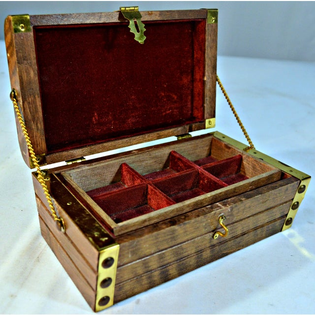 Japanese Wooden Jewelry Box - Image 6 of 10