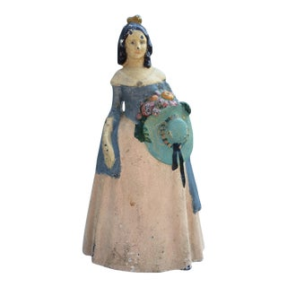 """""""Southern Belle"""" Woman Cast Iron Doorstop"""