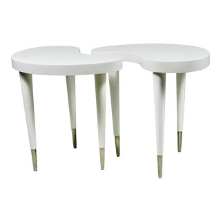 Contemporary Oly Twin Side Tables - a Pair For Sale