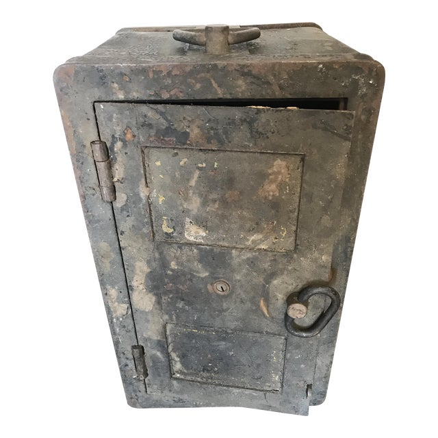 Solid Iron Antique Train Lock Box - Image 1 of 10
