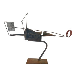 1974 Jay J. McVicker Abstract Iron Welded Sculpture For Sale