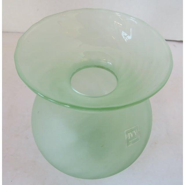 Italian Globe-Shaped Glass Vase For Sale - Image 4 of 6