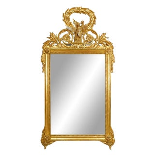 Mid 20th Century French Louis XV Style Gilt Wood Wall Mirror For Sale
