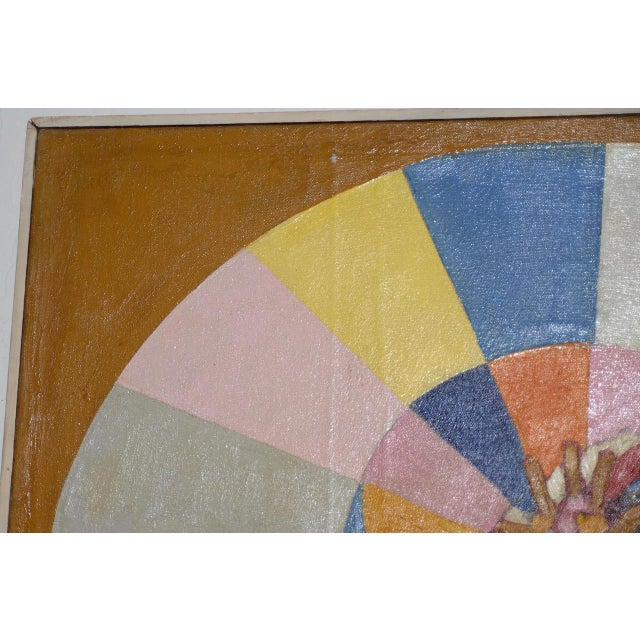 """""""A Day at the Beach"""" Original Painting by Larsen C.1950s For Sale In San Francisco - Image 6 of 11"""