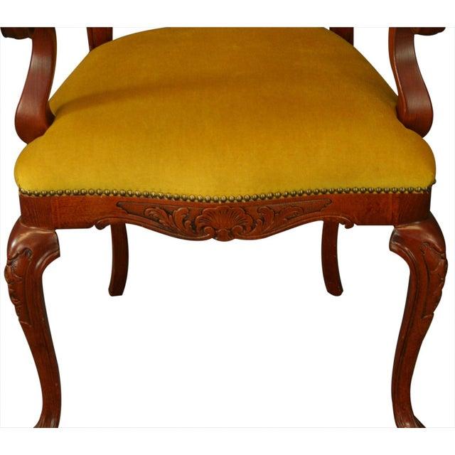 New Italian Rococo Inlay Armchair - Image 5 of 8