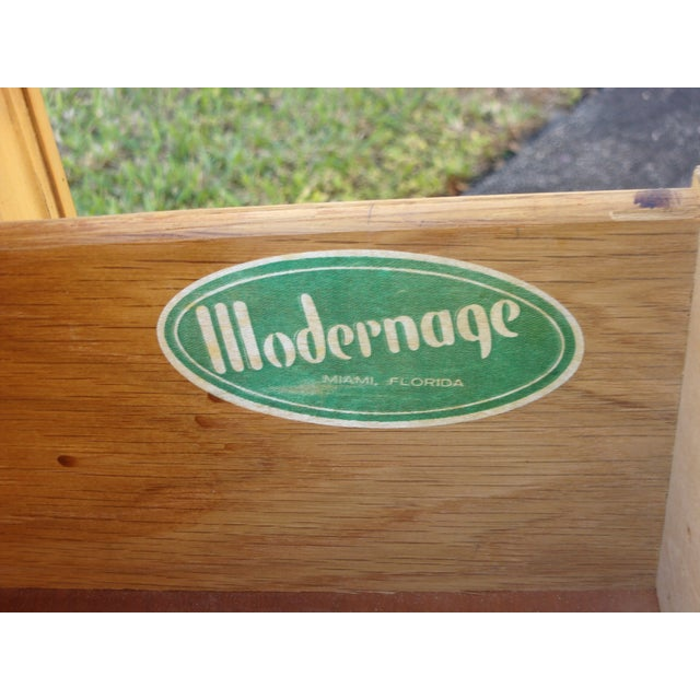 Mid-Century Three-Drawer Commodes - A Pair - Image 8 of 8