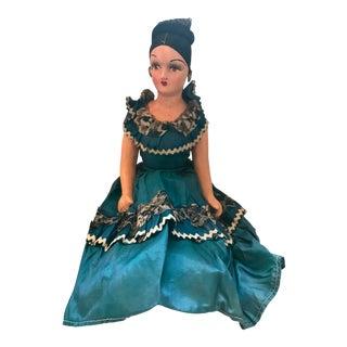 1920s Vintage Spanish Senorita Handmade Boudoir Doll For Sale