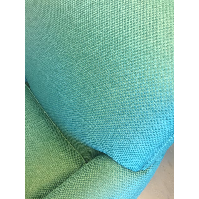 Turquoise Club Chairs - A Pair - Image 8 of 9