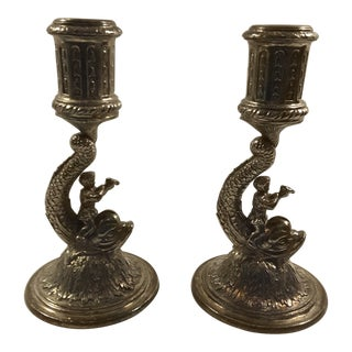 Antique Pairpoint Candleholders - a Pair For Sale