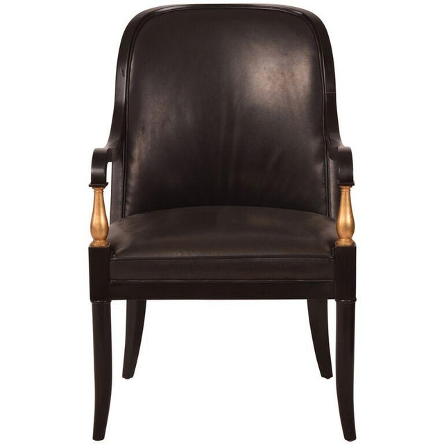 Andre Arbus Baker Leather Arm Chairs - A Pair - Image 2 of 5