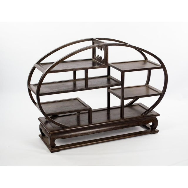 Asian 20th Century Chinese Wood Petite Etagere For Sale - Image 3 of 12