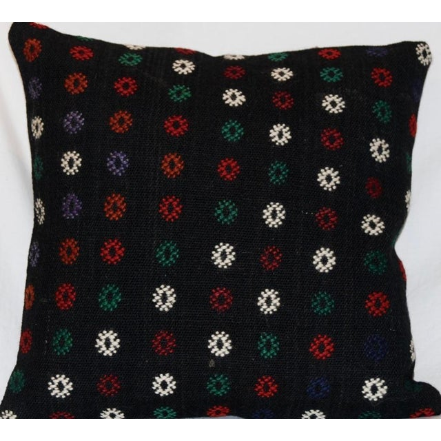This is a square handmade knotted antique Kilim pillow. Please note that the insert is included with the pillow case. The...