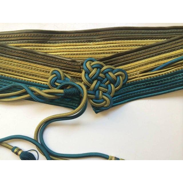Yves Saint Laurent Vintage Yves Saint Laurent Russian Collection Passementerie Tassel Belt Ysl For Sale - Image 4 of 12