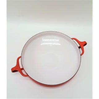 Red Mid Century Dansk Kobenstyle Medium Paella Pan Preview