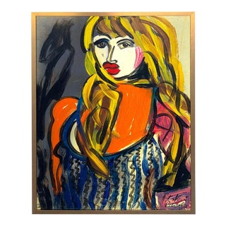 "Abstract Portrait Titled ""Elisabeth Taylor"", Peter Keil, Berlin, 1995 For Sale"