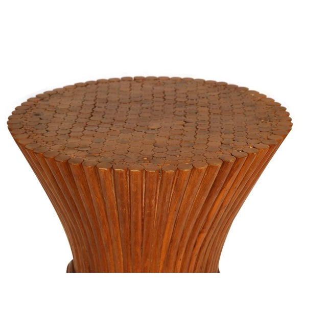 Sheaf of Wheat Rattan Dining Table and Chairs For Sale - Image 9 of 11