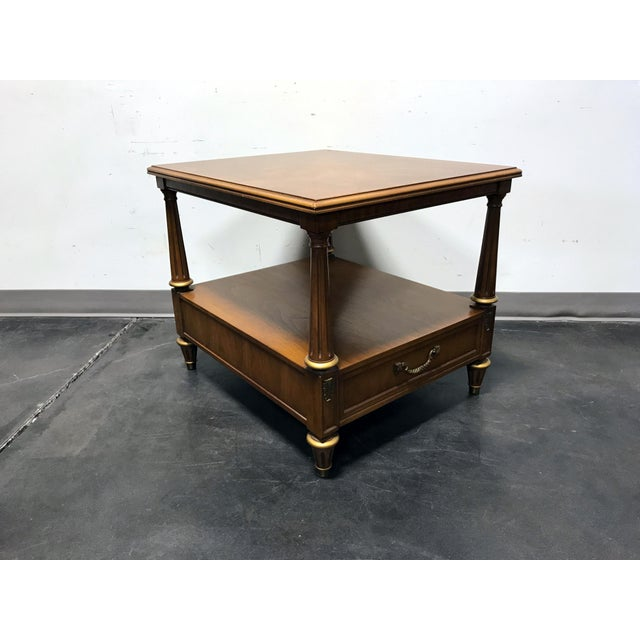 Henredon Henredon Mid Century Era Neoclassical Style Side End Table For Sale - Image 4 of 10