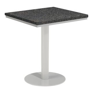 "24"" Square Outdoor Bistro Table, Charcoal For Sale"