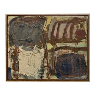 """""""SchoolGirl"""" Impasto Mid Century Abstract Expressionism Nyc Female Artist For Sale"""