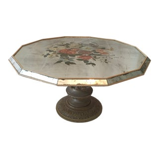 1950s Hollywood Regency Eglomise Coffee Table For Sale