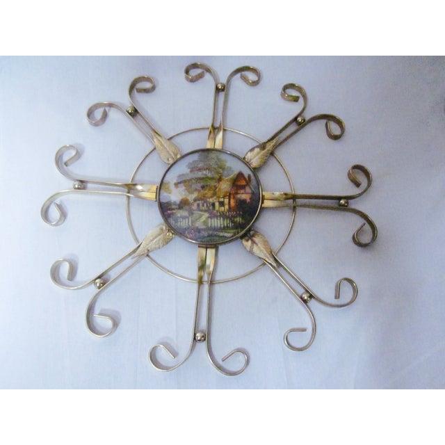 Mid Century Modern Hollywood Regency Atomic Clock - Image 10 of 11