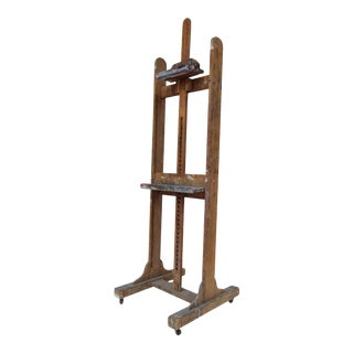1920a-30s Vintage New York City College Artist Studio Painters Easel For Sale