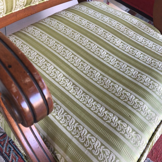 Vintge Traditional Wooden Accent Chair For Sale - Image 4 of 6