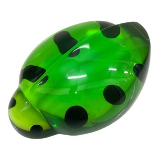 Shlomi Haziza Acrylic Green Beetle Lady Bug Sculpture For Sale