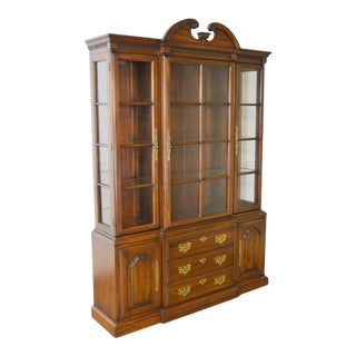 Harden Solid Cherry Traditional China Cabinet For Sale