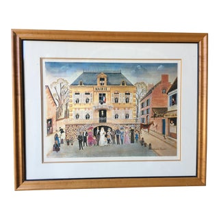 "Rodelphe Rosseau ""The Wedding"" Reproduction French Print For Sale"