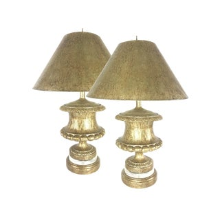 Richard Ray Custom Designs Jardiniere Table Lamps- a Pair For Sale