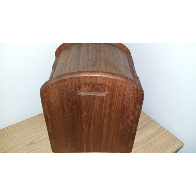 Mid-Century Modern Vintage Kalmar Designs Teak Ice Bucket. For Sale - Image 3 of 9