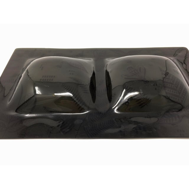 This double serving dish is part of Briard's Napoleonic Bee collection. The dish is distinctive among Briard's work...
