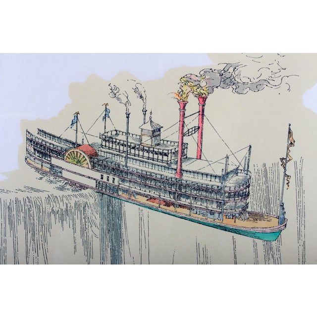 "1960's Lithograph ""Riverboat"" (1967) by William Richard Crutchfield For Sale - Image 9 of 10"