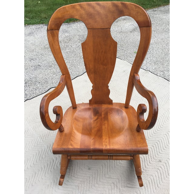 Beautiful Tell City Rocker (no markings). Close to pristine with little to  no - Tell City Balloon Back Maple Rocking Chair Chairish