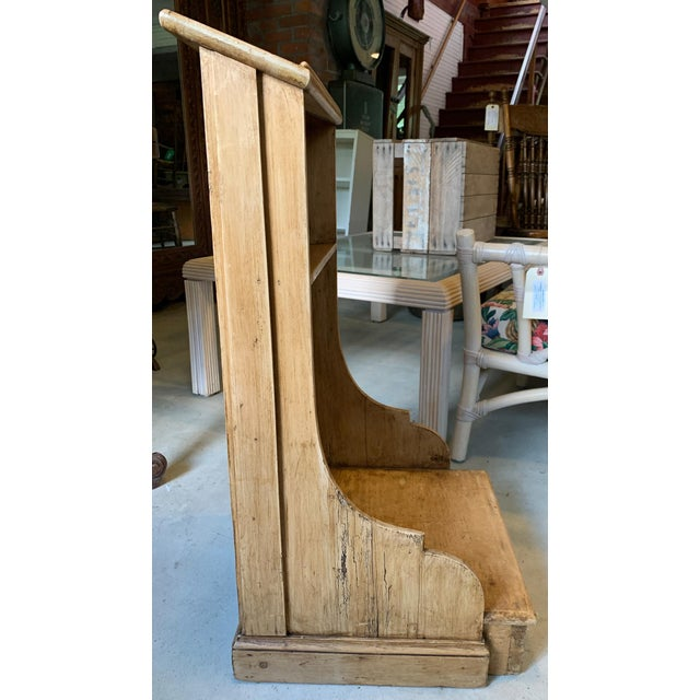 Rustic Rustic Wooden Kneeler From Ireland For Sale - Image 3 of 6