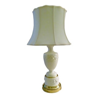 1930's Vintage Wedgwood Queensware Urn Table Lamp For Sale